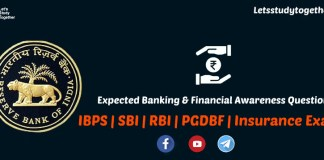 Expected Banking & Financial Awareness Questions
