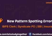 New Pattern Spotting Error Quiz