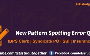 New Pattern Spotting Error Quiz