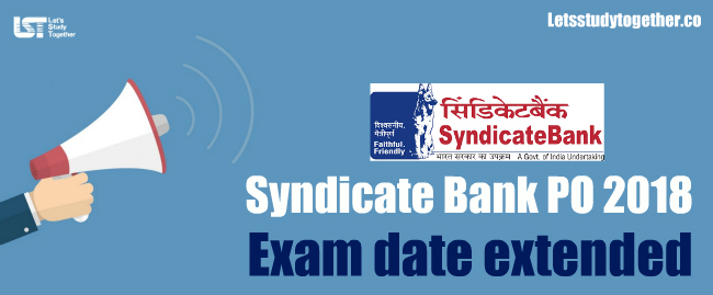 Syndicate Bank PO Exam