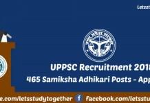 UPPSC Recruitment 2018