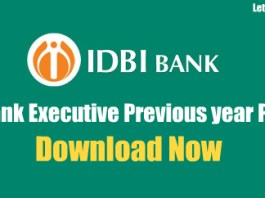 IDBI Bank Executive Previous year Papers