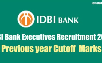 IDBI Bank Executives Previous year Cutoff