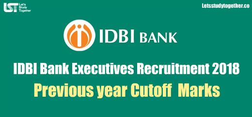IDBI Bank Executives Previous year Cutoff