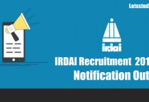 IRDAI Recruitment Notification 2018