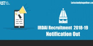IRDAI Recruitment Notification 2018
