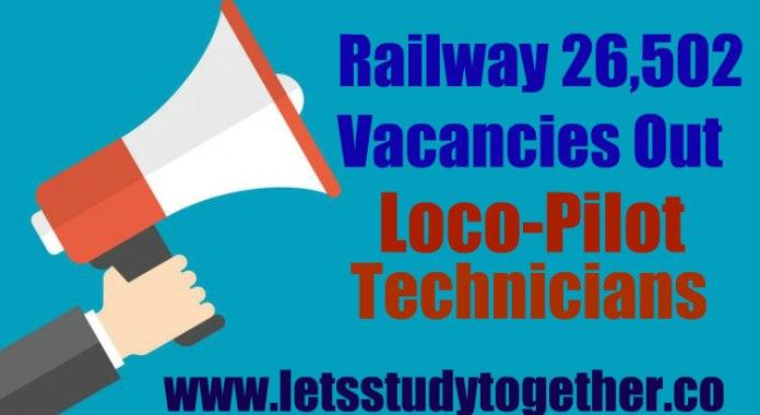 Railway Recruitment Board 26502 Vacancies