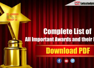 Complete List of all Important Awards and their Fields
