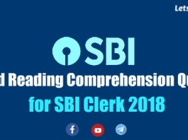 Expected Reading Comprehension for SBI Clerk