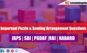 Expected Puzzle Questions for SBI PO & Clerk 2018 | Set- 114