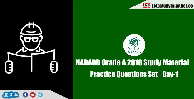 NABARD Grade A 2018 Study Material