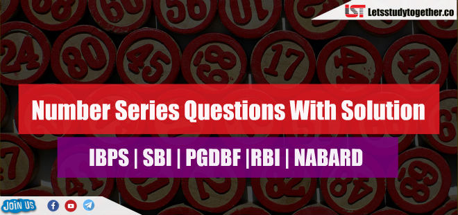 Number Series Questions With Solution For SBI Clerk