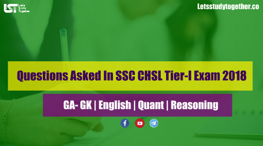 Questions Asked In SSC CHSL