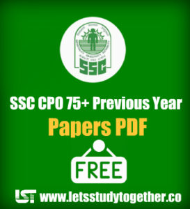 SSC CPO Previous Year Papers PDF