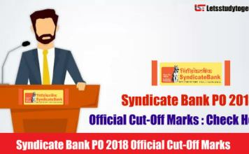 Syndicate Bank PO 2018 Official Cut-Off Marks