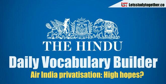 Daily Vocabulary Builder PDF - 4th April 2018