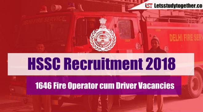 HSSC Recruitment Notification 2018