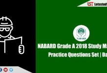 NABARD Grade A 2018 Study Material – Attempt Practice Questions Set | Day-6