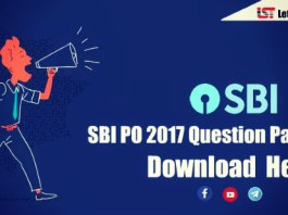 SBI PO Previous Year Question Paper 2017 (Prelims/Mains) - Download PDF