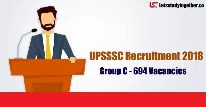 UPSSSC Group C Recruitment Notification 2018
