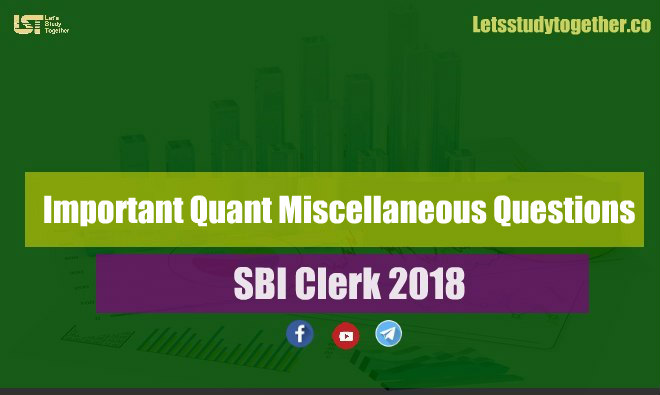 Quant Miscellaneous Questions