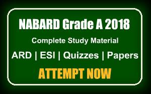 NABARD Grade A 2018 Preparation