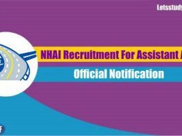 NHAI Recruitment For Assistant Advisor