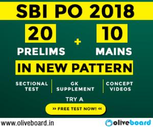 Oliveboard SBI PO Mock test