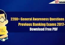 2200+ General Awareness Questions Asked In Previous Banking Exams 2017-18