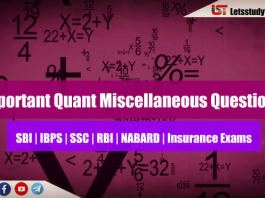 Important Quant Miscellaneous Questions for SBI PO/ Clerk 2018 : Set-19