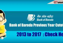 Bank of Baroda (BOB) PO Previous Year Cutoff Marks (2013-2017) : Check Here