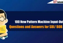 100 New Pattern Machine Input-Output Questions and Answers