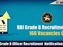 RBI Grade B Recruitment 2018 - 166 Vacancies Out !!!