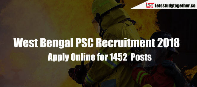 West Bengal PSC Recruitment 2018 : Apply Online for 1452 Posts