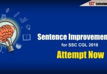 Sentence ImprovementQuiz for SSC CGL 2018
