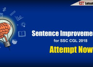 Sentence Improvement Quiz for SSC CGL 2018