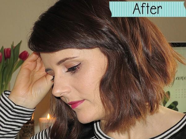 With eyeliner & mascara