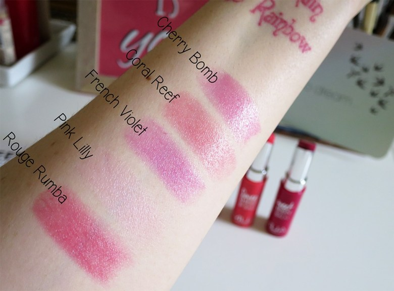 MUA Sweet Sheen Swatches