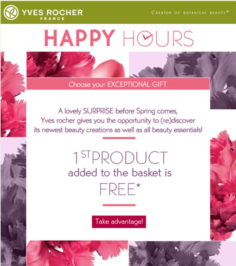 Yves Rocher Spring Offer