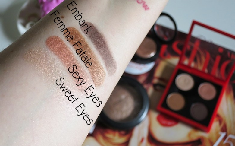 MAC Duchess Quad Swatches
