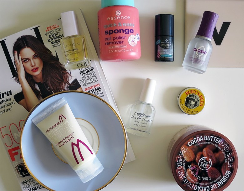 A few nail & hand care products