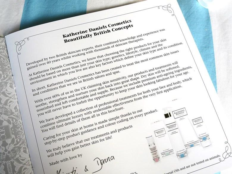 British Skincare brand Katherine Daniels