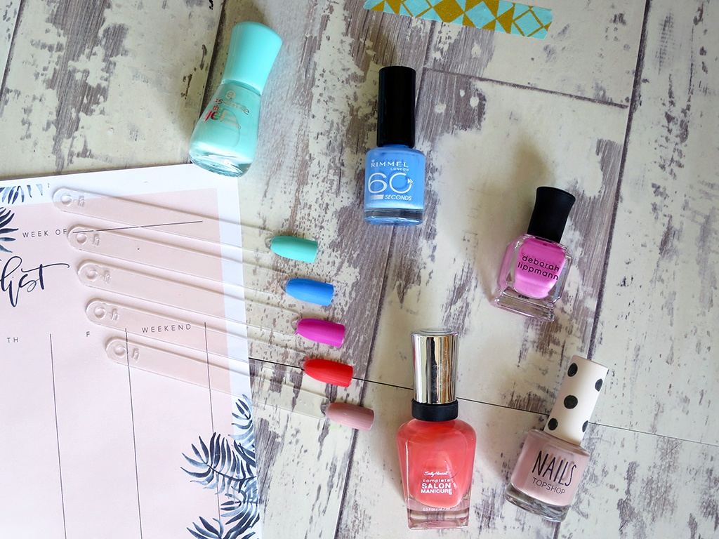 Five Favourite Spring Nail Polishes