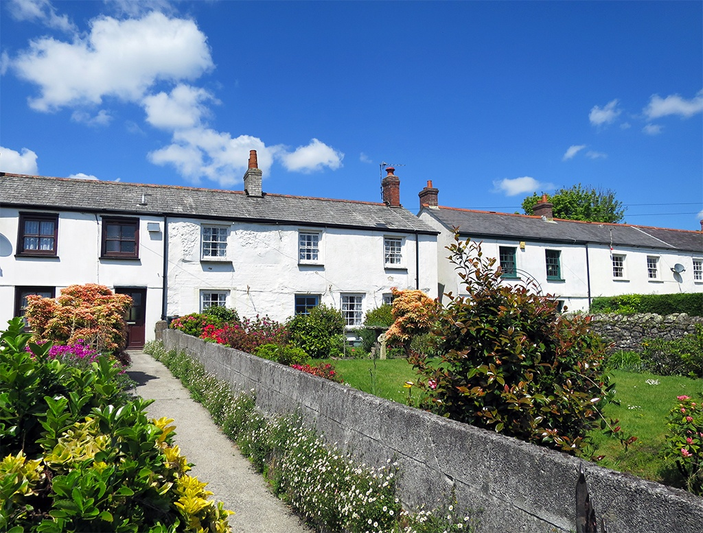 Cornish White Cottages