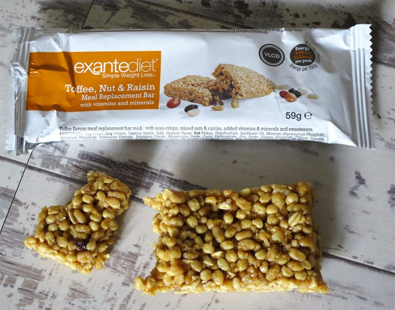 Exante Diet Toffee Nut Raisan Bar