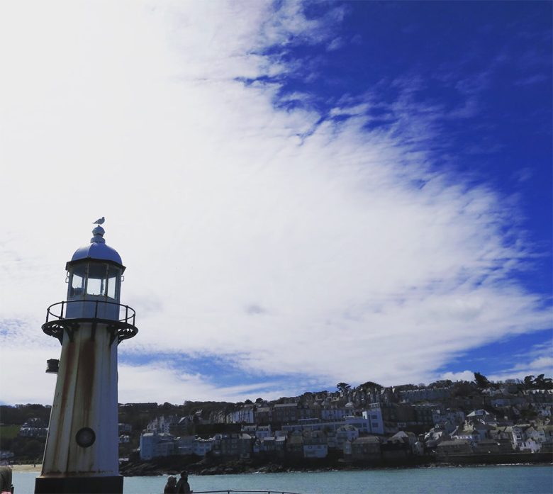 Lighthouse in St Ives Harbour