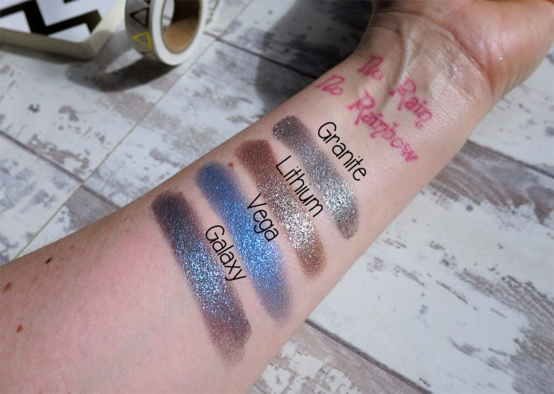 Urban Decay Moondust Eyeshadow Swatches