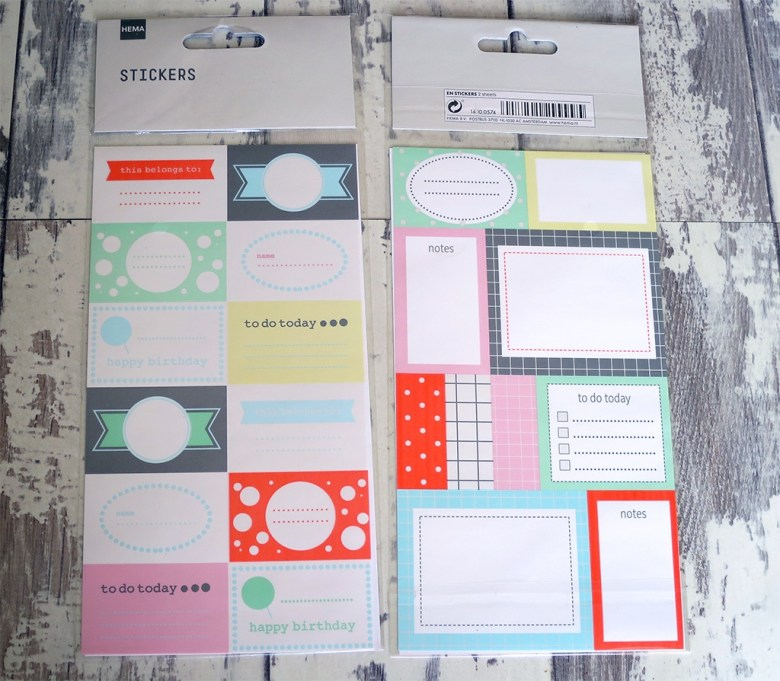 HEMA Planner Sticker Sets