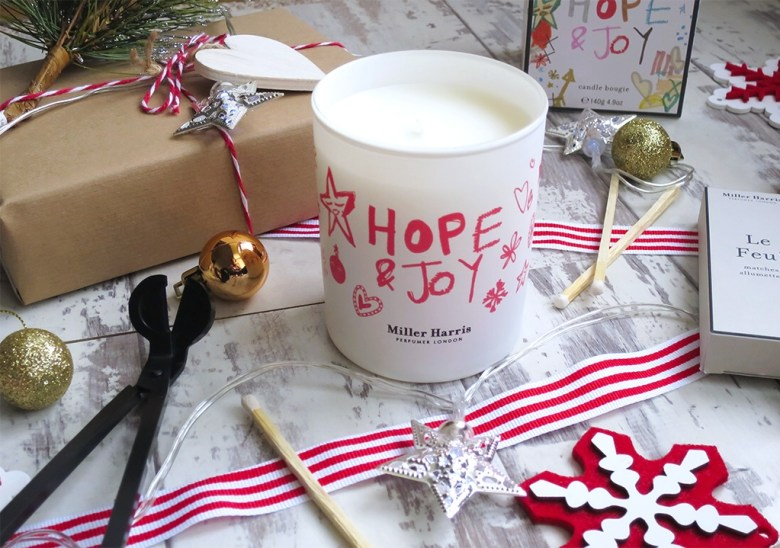 Hope and Joy Miller Harris Christmas Candle