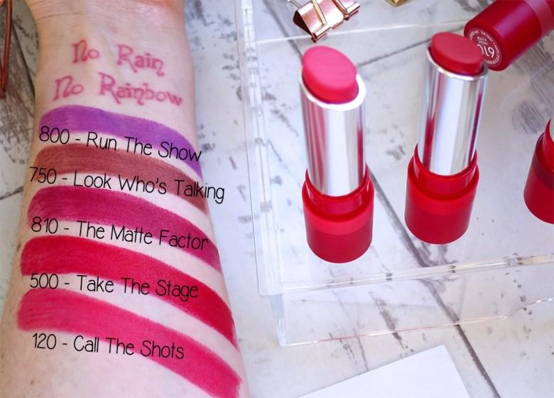 Rimmel Lipstick Swatches